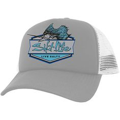 Salt Life designs apparel, footwear and accessories with the ocean lover in mind. This hat features a Salt Life sailfish logo and a breathable mesh back.