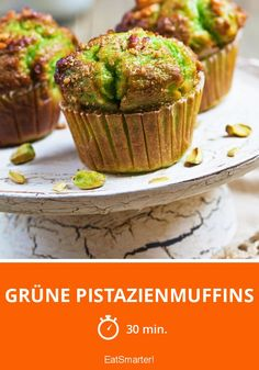 Grüne Pistazienmuffins - smarter - Zeit: 30 Min.   eatsmarter.de