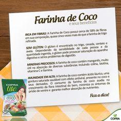 A Farinha de Coco é uma opção natural, sem glúten e rica em fibras para você…