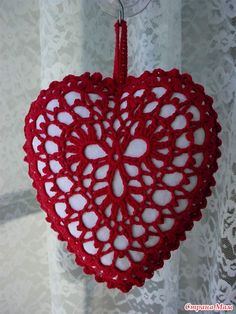 Beautiful #Crochet #Heart pattern with chart + many more hearts and charts!