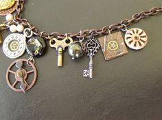 """""""Steampunk Charm"""" Necklace 4 by LadyNightHawk"""