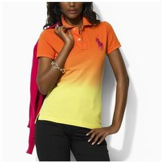 Ralph Lauren Womens Classic-Fit Polo shirts Orange Ralph Lauren Store, Polo  Ralph Lauren 8a85f06cccf