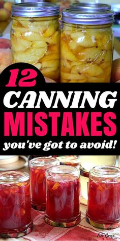 Are You Making These Canning Mistakes? Food Preservation for Beginners: Learn the most common canning mistakes and how to avoid them. Can your food safely! Easy Canning, Canning Salsa, Canning Pickles, Canning Tips, Canning Peaches, Canning Tomatoes Water Bath, Canning Soup, Pressure Canning Recipes, Home Canning Recipes