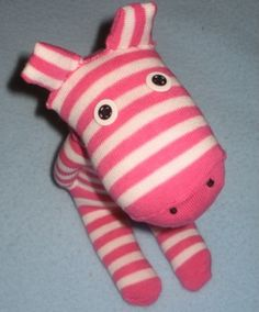 Sock zebra...saw on another site that they added a yarn mane.