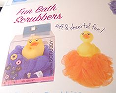 $8 -- Your little one will take to the water with this cute little duck scrubby friend.  Avail. in orange netting at this time only.