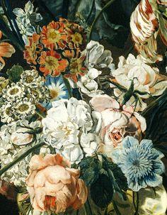 Cornelia van der Mijn. Detail from Flower Still Life, 1762.