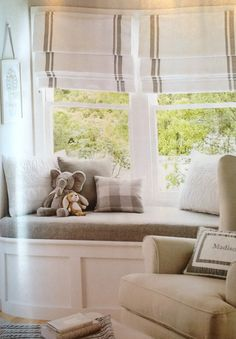 Love this window reading nook from Pottery Barn Kids!