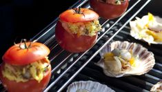 Paella-stuffed Tomatoes from the #grill