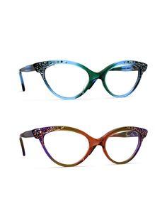 Francis Klein Eyewear, prescription and sunglasses - Eye Candy Optical Funky Glasses, Cool Glasses, Glasses Frames, Fashion Eye Glasses, Cat Eye Glasses, Cat Eye Frames, Womens Glasses, Eyewear, Eye Candy