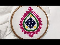 Saree Kuchu New Designs, Kasuti Embroidery, Kutch Work Designs, Hand Embroidery Videos, Mirror Work, Diy And Crafts, Youtube, Youtubers, Youtube Movies