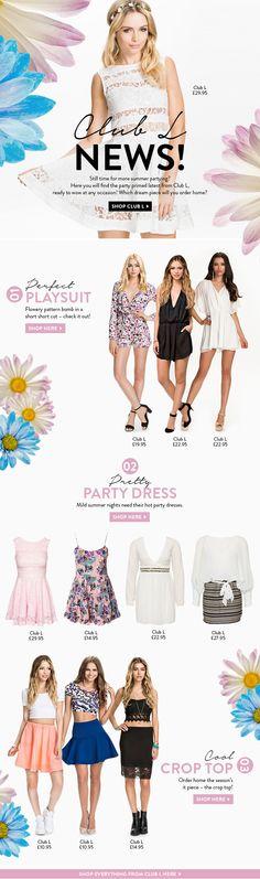 Nelly Fashion / Clothers newsletter design Fashion Newsletter Desgin