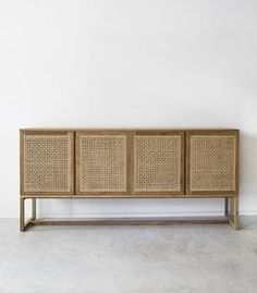 'Willow' Woven Buffet / Natural / Teak This stunning woven console has 1 internal shelf and 4 rattan doors. The perfect piece for storing items in your lounge or dining room. Dimensions: Wide x Deep x High approx Cheap Bedroom Decor, Cheap Wall Decor, Cheap Home Decor, Muebles Home, Muebles Living, Decorating Small Spaces, Apartments Decorating, Decorating Bedrooms, Piece A Vivre
