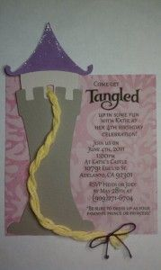 Cutest tangled invitation