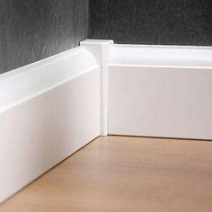 CanDo binnenhoek voor plinten the past vorher nachher möbel Home Renovation, Home Remodeling, Baseboard Trim, Baseboard Ideas, Modern Baseboards, Moldings And Trim, Crown Molding, Corner Moulding, Trim Work