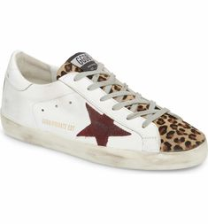best service ca773 8cfbc Superstar Genuine Calf Hair Sneaker, Main, color, White  Burgundy  Leopard  Holiday