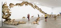 Cai Guo-Qiang: Falling Back to Earth  @Deborah Cagle-Roberts Gallery of Modern Art QLD #art #installation