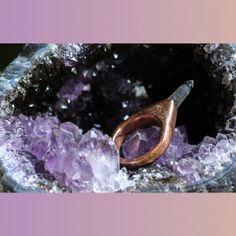 #crystals #jewelry #ring #quartz #accessories #quartz #handmade #crystaljewelry #electroforming #electroformed #amethyst #healingcrystals