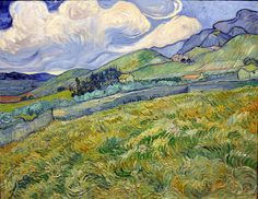 Vincent van Gogh - Landscape from Saint-Remy at Ny Carlsberg Glyptotek Copenhagen by mbell1975, via Flickr