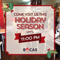 We have a special working schedule to celebrate this Holiday season with you. Opening time is at a. and closing time at p. Come say hi! Say Hi, Schedule, Miami, Seasons, Holiday, Decor, Timeline, Vacations, Decoration