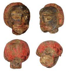 India Indian tribal mask / head Rajasthan folk tribe tribal art primitive old antique Art Premier, Old Antiques, Himalayan, Tribal Art, Namaste, Primitive, Masks, Folk, Carving
