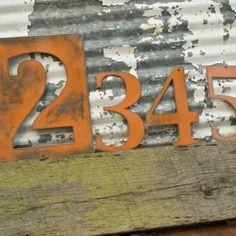 House Numbers Metal Numbersletters And Numbersrusty