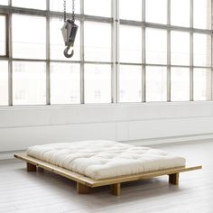Inspired By The Japanese Futon And Tatami Rooms Karup Has Designed A Low Bed Made Of Pine Wood