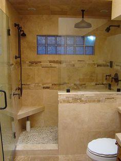 Bathroom Ideas Travertine the new hardware and soap shelf | travertine, slate and slate shower