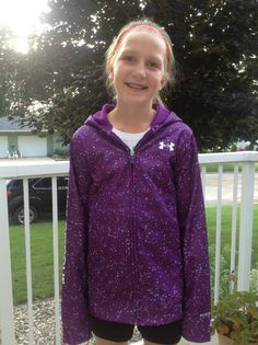Awesome! Purple under armor sweatshirt!:) ❤❤