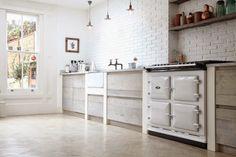 pintar la cocina de blanco Una cocina rustica y moderna