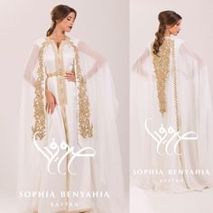 White caftan by Sophia Benyahia