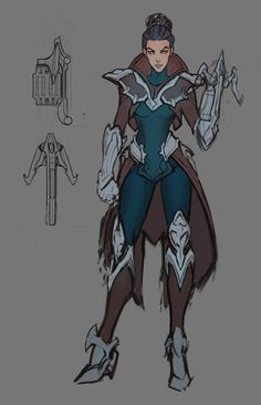 Drawing Design ArtStation - Various Old/Cancelled Champion Update Concepts. Female Character Design, Character Creation, Character Design References, Character Design Inspiration, Character Concept, Character Art, Concept Art, Dnd Characters, Fantasy Characters