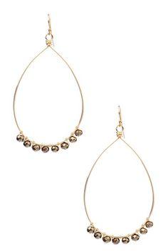 Pyrite Teardrop Earrings by Vivian Tamayo on @HauteLook