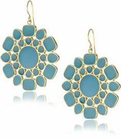 Isharya Big Icon Enamel Blue Curacao Earrings Isharya. $150.00. This is part of the Isharya enamel collection. These earrings feature blue curacao opaque enamel, gold enamel backing and satin 18k gold-plate. Isharya jewelry is handcrafted by artisans. Made in Thailand