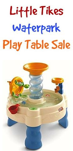 Little Tikes Waterpark Play Table Sale: $39.99 + FREE Shipping!  {the kiddos will lose track of time playing with this in the backyard... one of the BEST Summer Fun Ideas for Kids!} | TheFrugalGirls.com
