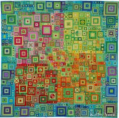 Little Cities Quilt by Kathy York ---- many pins have this mislabeled as a Kaffe Fassett quilt