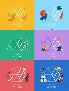 EXO - LOGO - 6 Years with EXO