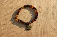 Handmade aardetint agaat + hout armband door EarlybirdiesNL op Etsy