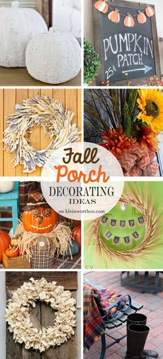 Fall Porch Decorating Ideas - so much gorgeous inspiration all right here!!!! on kleinworthco.com