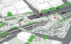 JDS Architects- Improving infrastructure can also increasing the mobility of a city. Landscape Architecture Design, Green Architecture, Architecture Drawings, Architecture Diagrams, Architecture Portfolio, Cyclades Greece, Urban Design Diagram, Urban Analysis, Pedestrian Bridge