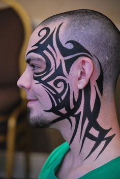 tribal face paint, by pashur body art More