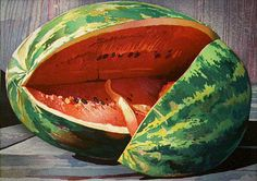 Mary Pratt, one of my favourite Canadian painters - her paintings of vegetables, fruit (and meat) glow.  How do they do it?
