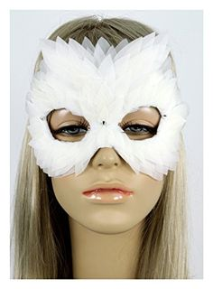 Handmade in the USA Masquerade Feather Mask White (White)... https://smile.amazon.com/dp/B01GGS1UT4/ref=cm_sw_r_pi_dp_x_yBreybA6CPH2Z