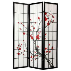 Japanese decor | Oriental Furniture 72'' x 42'' Cherry Blossom Decorative 3 Panel Room ...