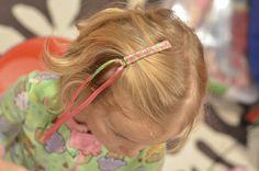 80's ribbon barrette