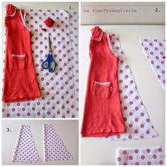 Come cucire vestitino estivo per bambina - Spiegazioni. TutorialTessuti.  Blog creativo di cucito e fai-da te. 7ed18d85427