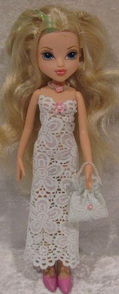 MOXIE GIRLZ Doll Clothes #16 Handmade Dress, Beaded Necklace & Purse Set #HandmadebyESCHdesigns