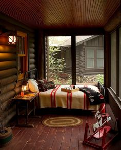 Sun Porch Bedroom | Rush Lake Cabin by Michelle Fries