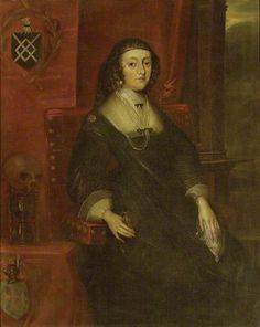 Lady Molyneux , Anne Harrington (Sir John Molyneux Wife).1590–1644), daughter of Sir James Harington of Exton, Rutland, who married secondly, (as his second wife) Sir John Molyneux, Bt, of Teversal, Nottinghamshire (d.1618). Her widow's weeds suggest that the portrait may date from shortly after 1618