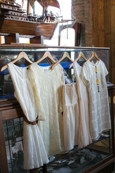 Assorted Cream Bridesmaid Dresses. {Photo: Lark Photography}
