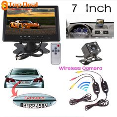 HD 800 x 480 7 Inch Color Car Rear View Camera Monitor+420 TV Lines Night Vision Rear View Camera+Video Transmitter and Receiver